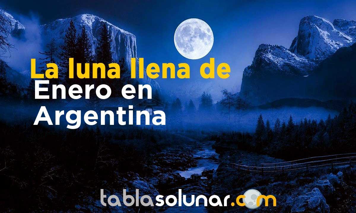 Luna llena de Enero de 2021 en Argentina