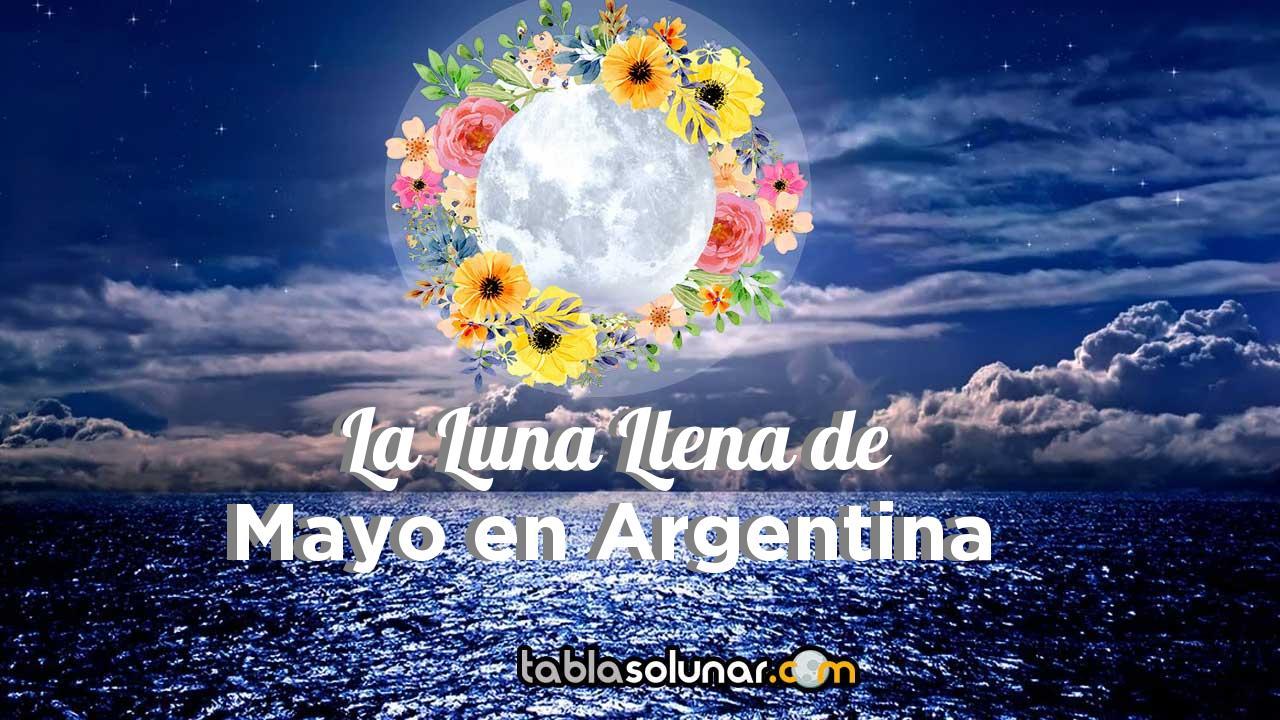 Luna llena de Mayo de 2021 en Argentina