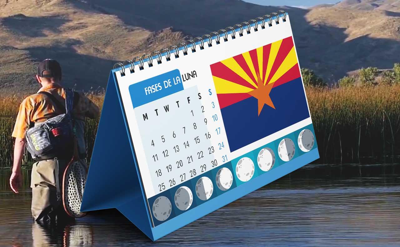 Tabla solunar para la pesca en Arizona