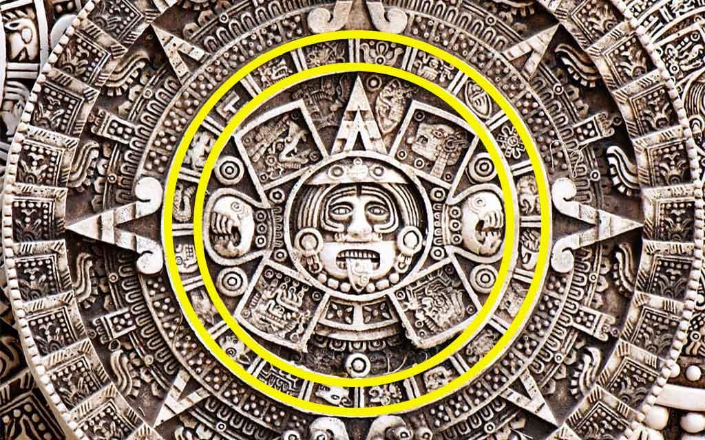 Detalle del Primer Anillo del Calendario Azteca