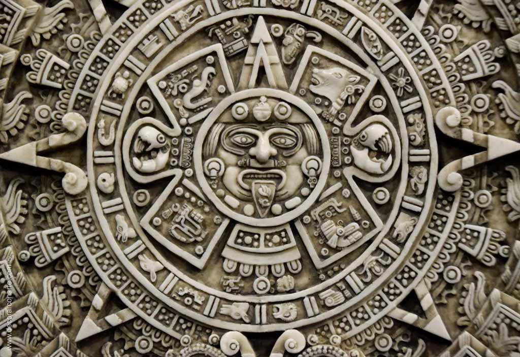 Disco central del Calendario Azteca