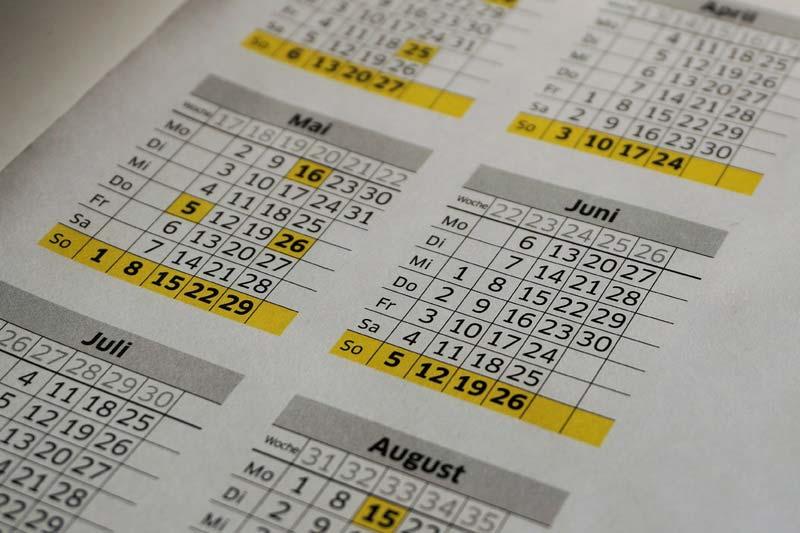 Los Calendarios son una forma de representar el tiempo.