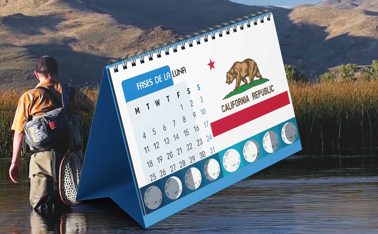 Tabla solunar para la pesca en California