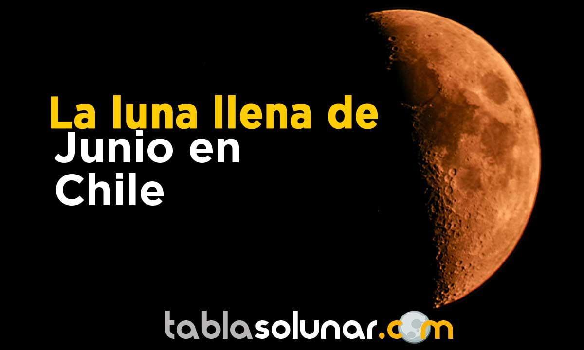 Luna llena de Junio de 2021 en Chile