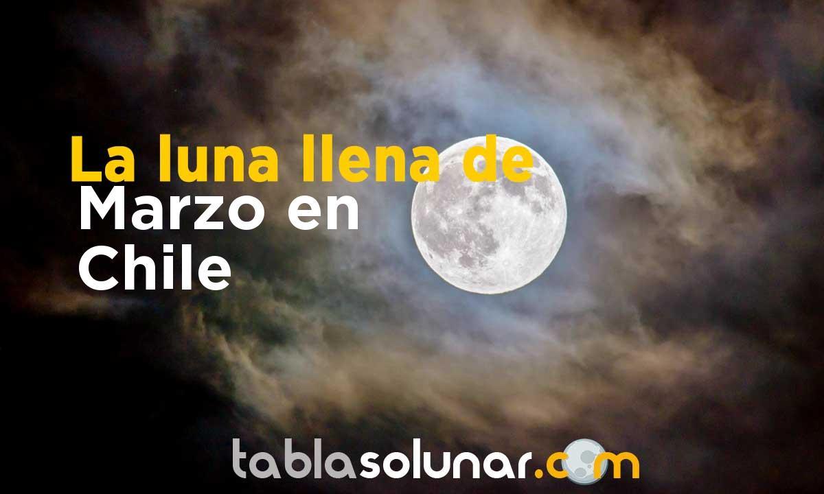 Luna llena de Marzo de 2021 en Chile