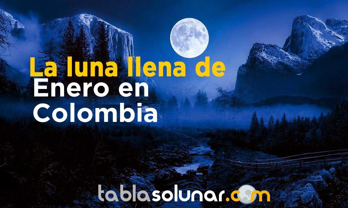 Luna llena de Enero de 2021 en Colombia