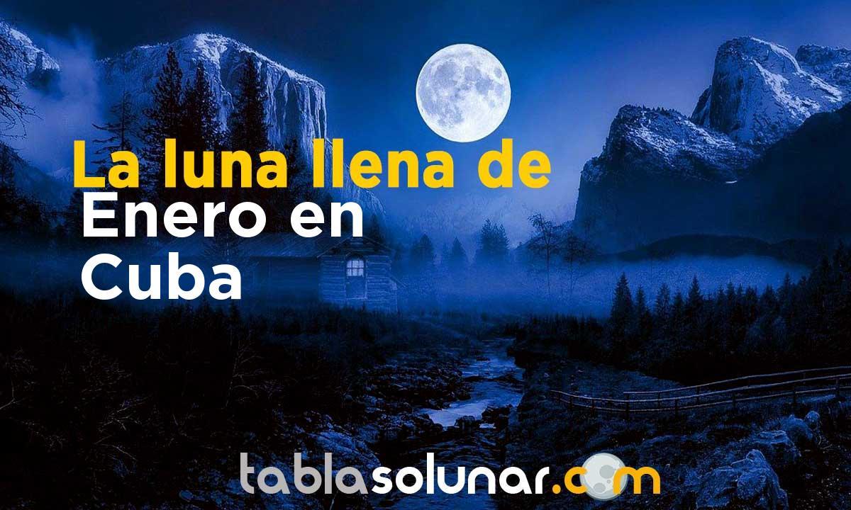 Luna llena de Enero de 2021 en Cuba