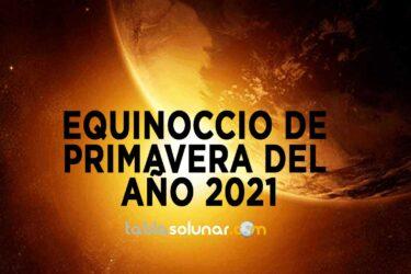 Equinoccio de Primavera de 2021