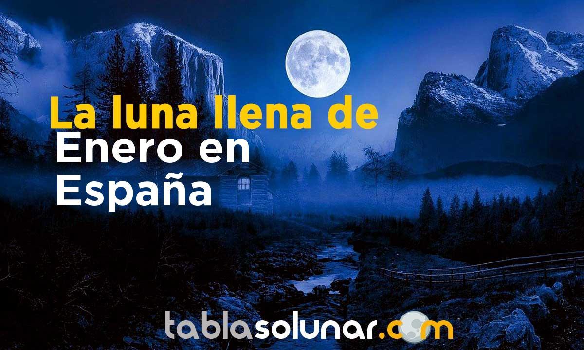 Luna llena de Enero de 2021 en España