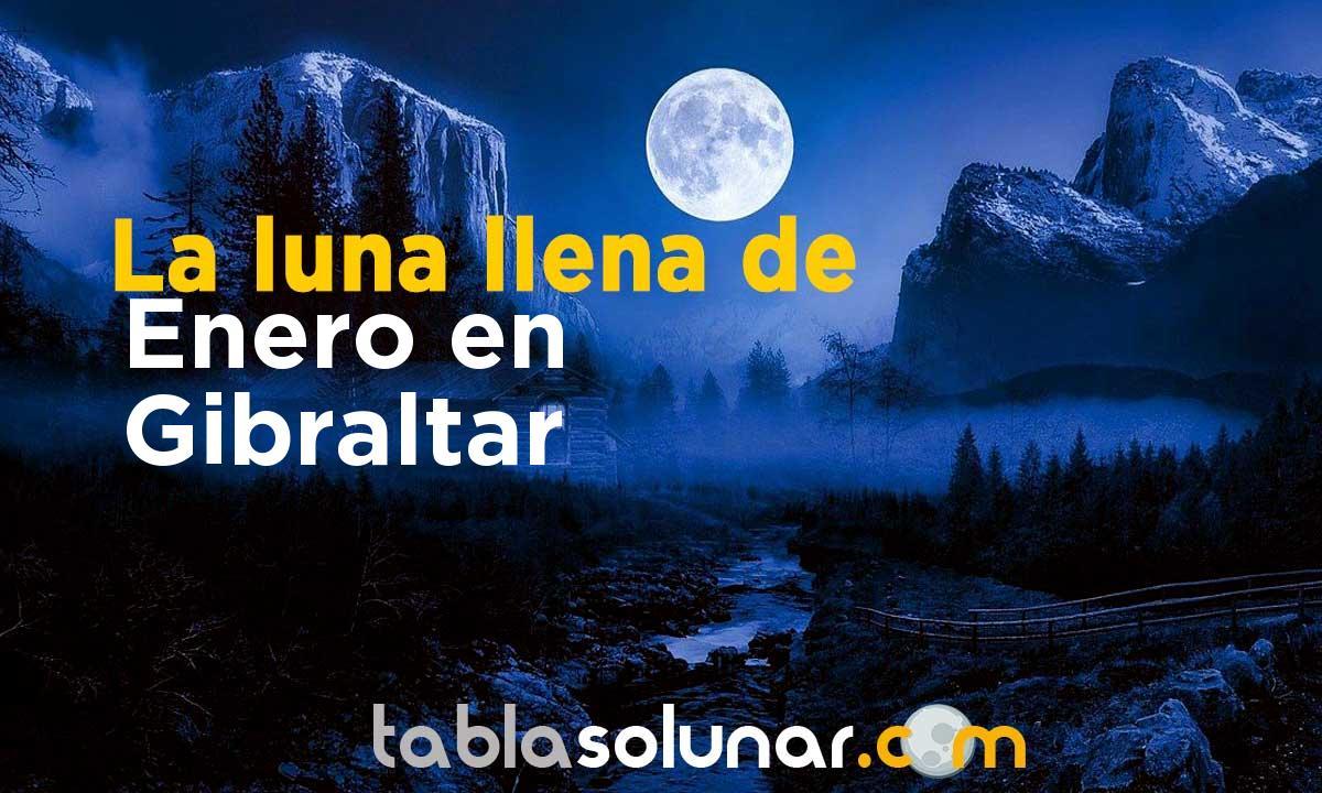 Luna llena de Enero de 2021 en Gibraltar