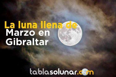 Luna llena de Marzo de 2021 en Gibraltar