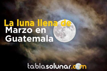 Luna llena de Marzo de 2021 en Guatemala