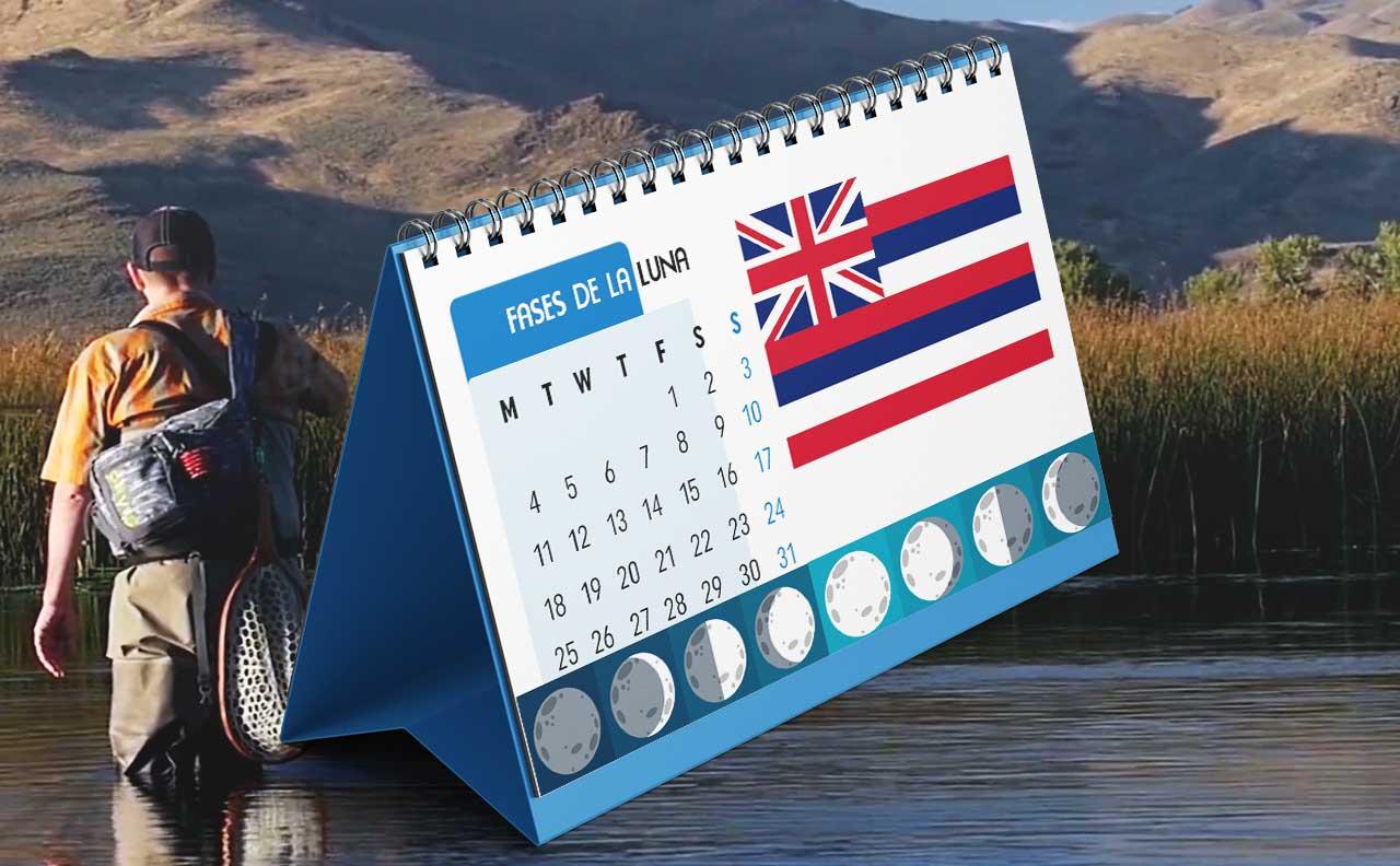 Tabla solunar para la pesca en Hawái