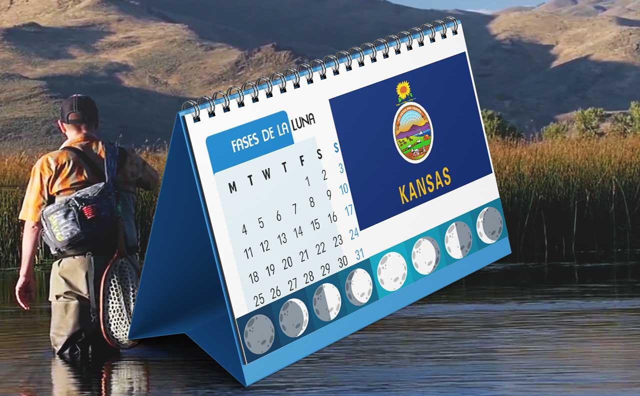 Tabla solunar para la pesca en Kansas