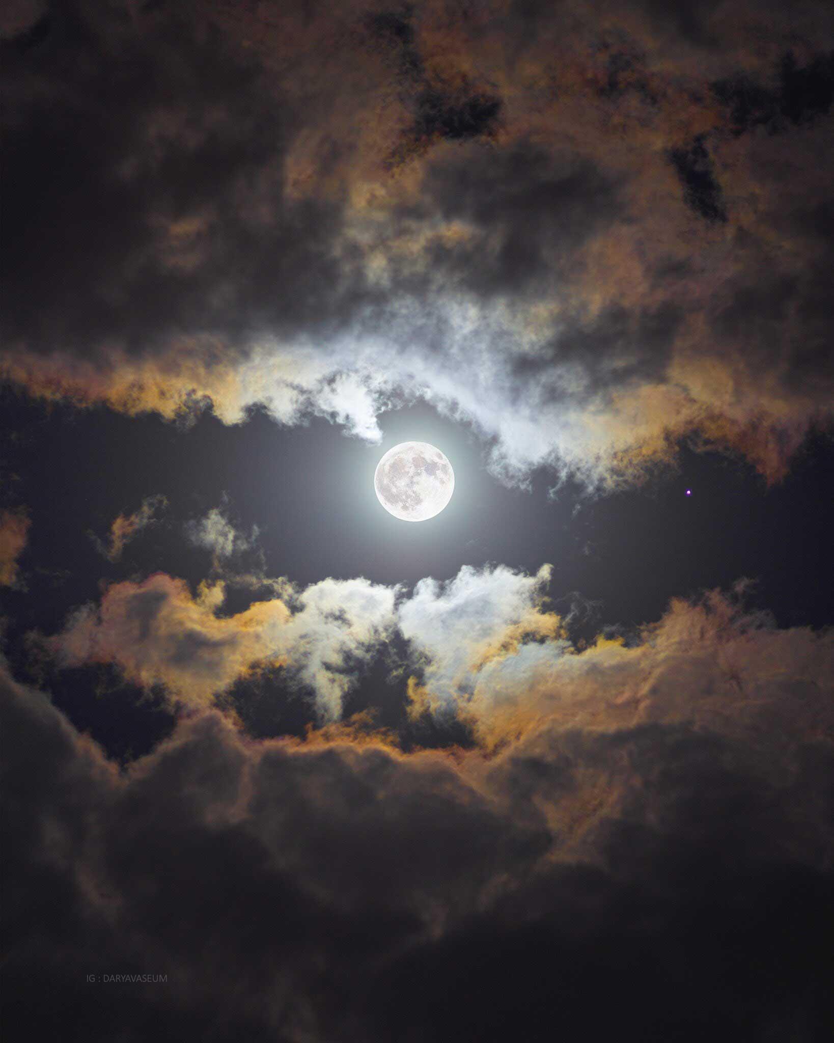 Imágenes de la luna Azul : Luna Azul en Monterrey, México (Octubre de 2020) vía @MiPatanFavorito (Twitter)