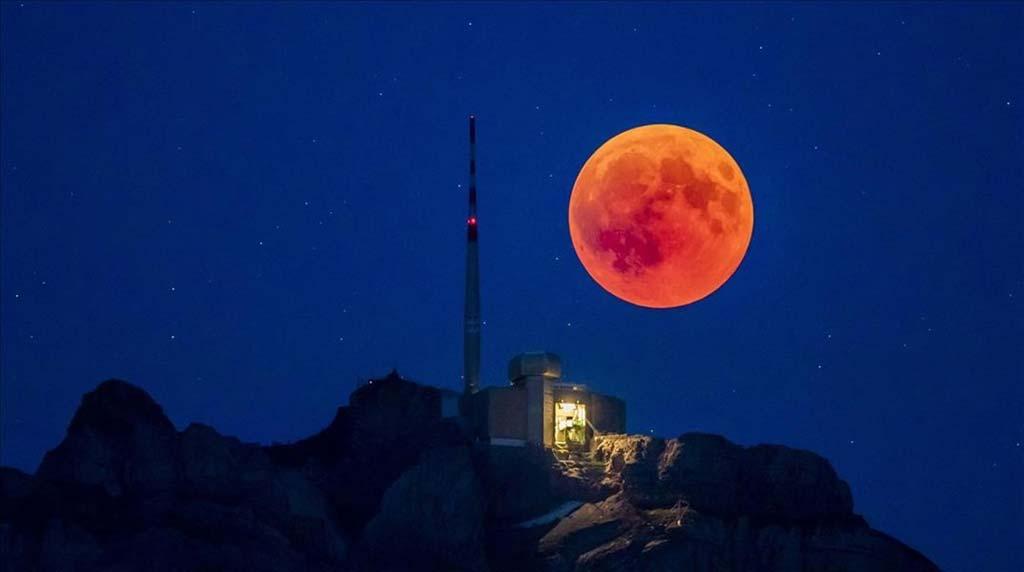 Calendario Lunar de Uruguay Hoy. Vista de Luna Roja.