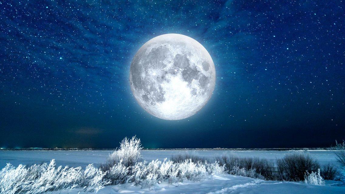 Luna de Nieve. La luna llena del Mes de Febrero.