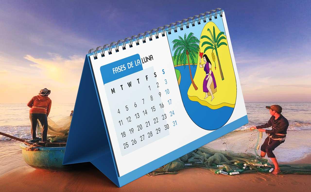 Portada Calendario Lunar de Pesca para Antioquia (Colombia)