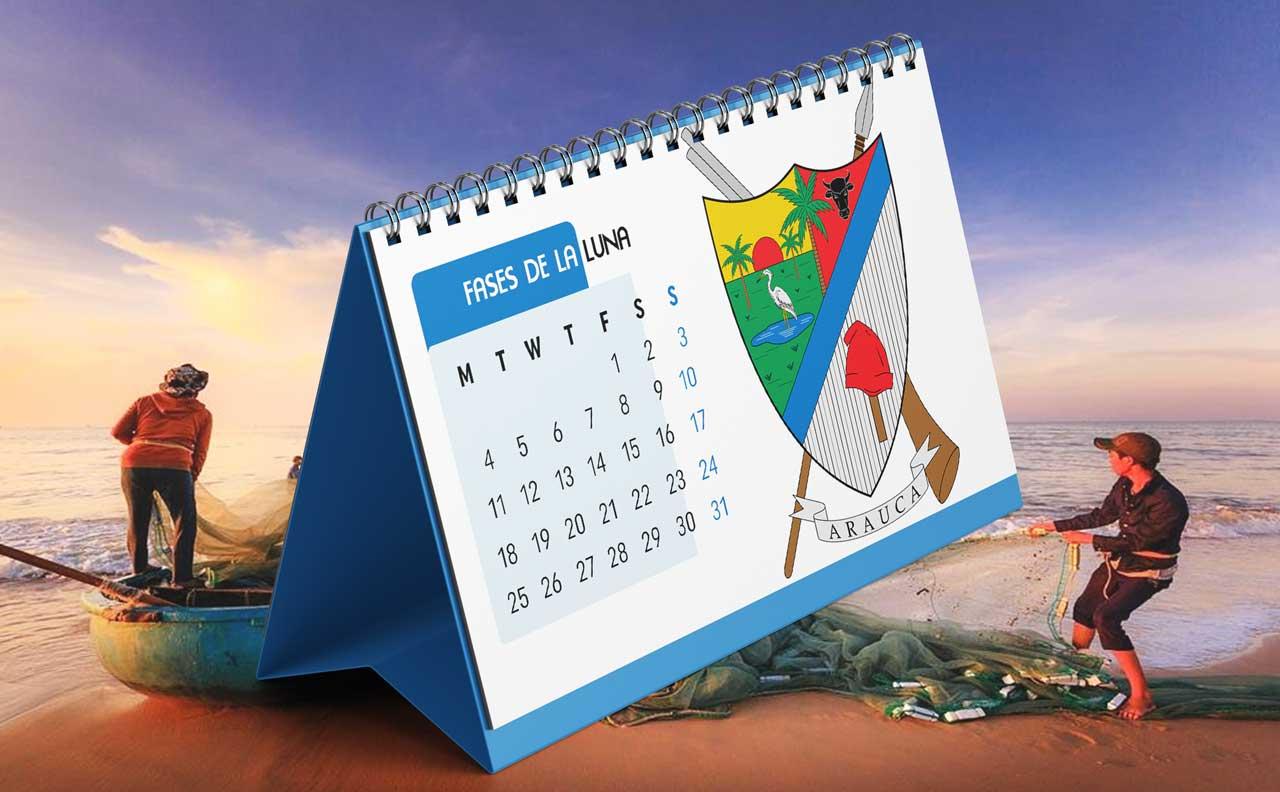 Portada Calendario Lunar de Pesca para Arauca (Colombia)