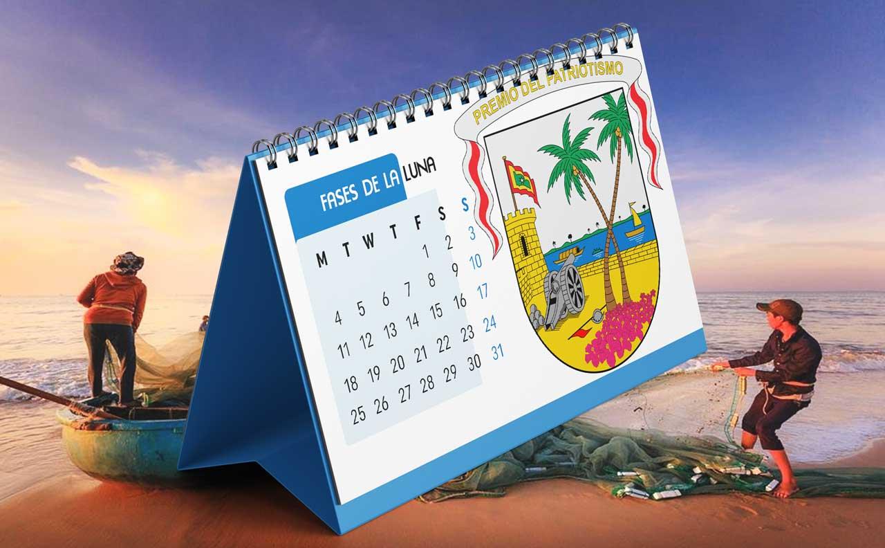 Portada Calendario Lunar de Pesca para Atlántico (Colombia)