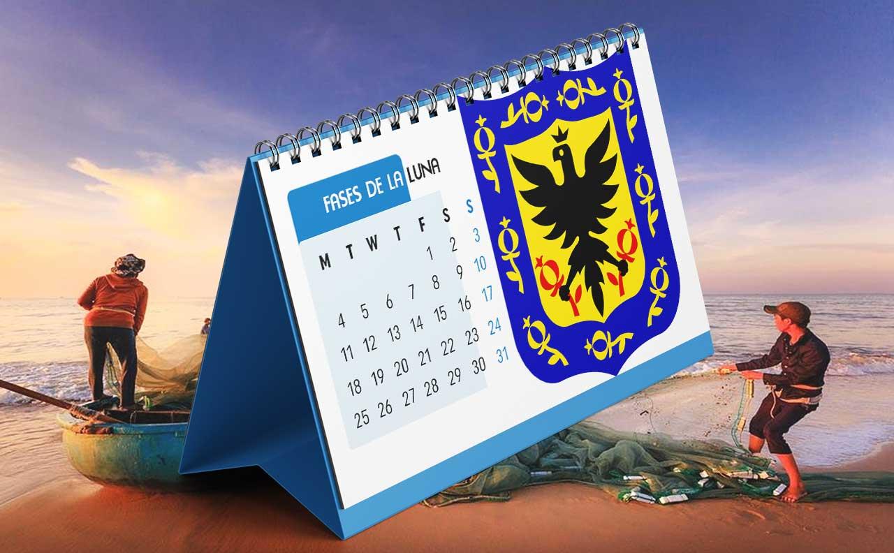 Portada Calendario Lunar de Pesca para Bogotá (Colombia)