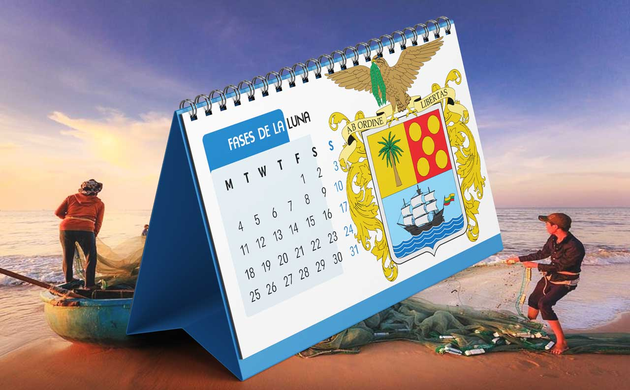 Portada Calendario Lunar de Pesca para Bolívar (Colombia)