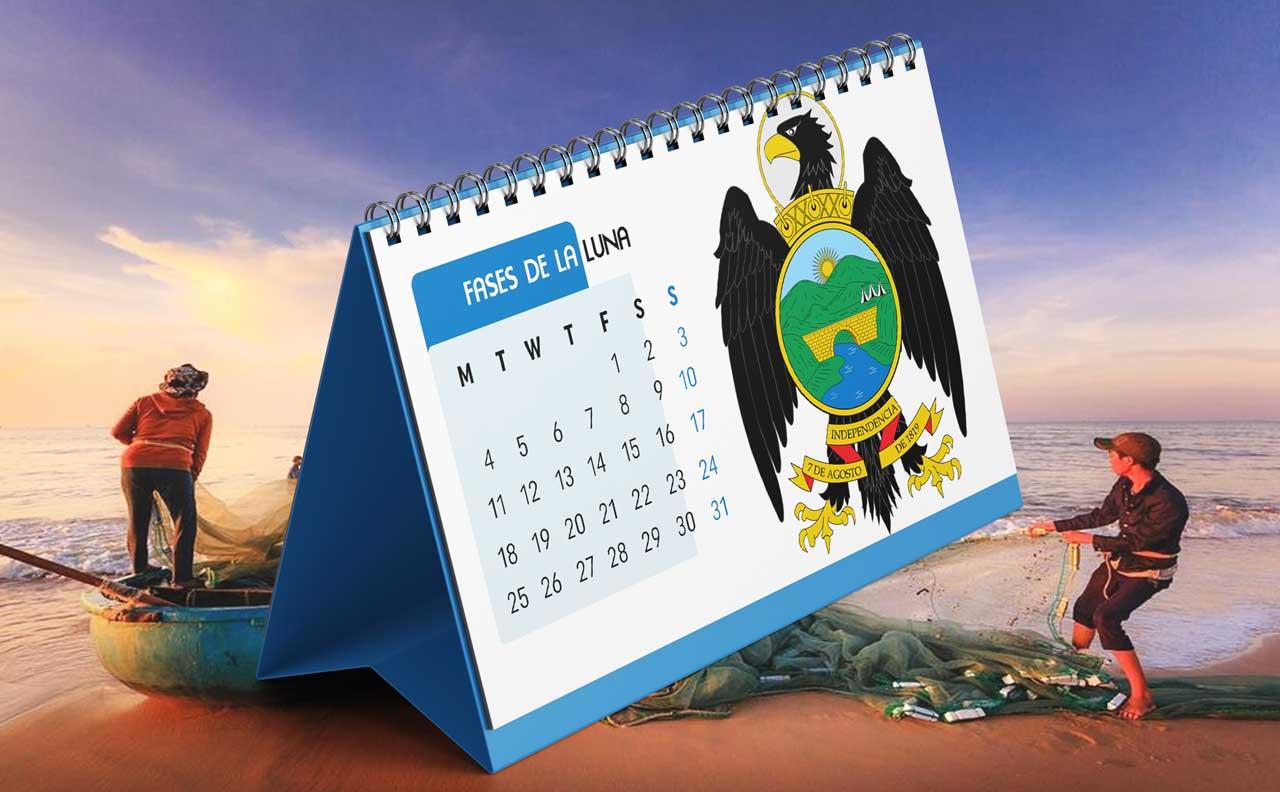 Portada Calendario Lunar de Pesca para Boyacá (Colombia)