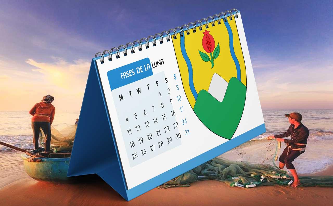 Portada Calendario Lunar de Pesca para Caldas (Colombia)