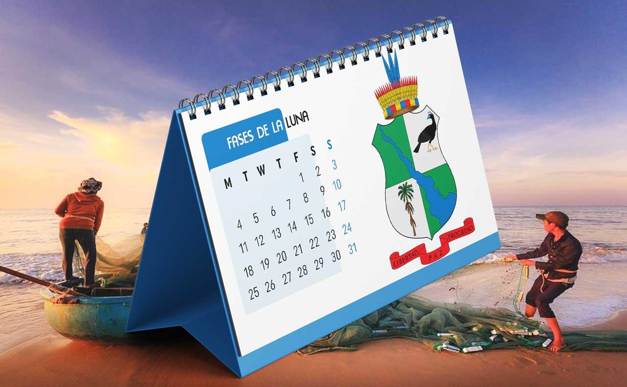 Portada Calendario Lunar de Pesca para Caquetá (Colombia)