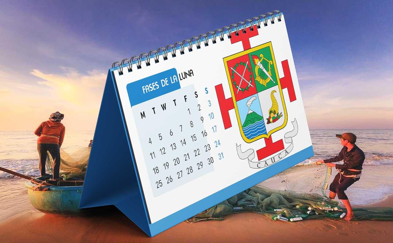 Portada Calendario Lunar de Pesca para Cauca (Colombia)