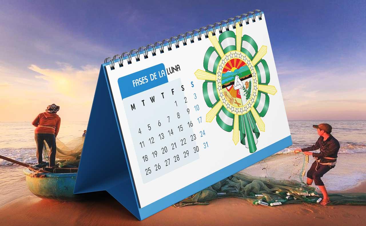 Portada Calendario Lunar de Pesca para Cesar (Colombia)