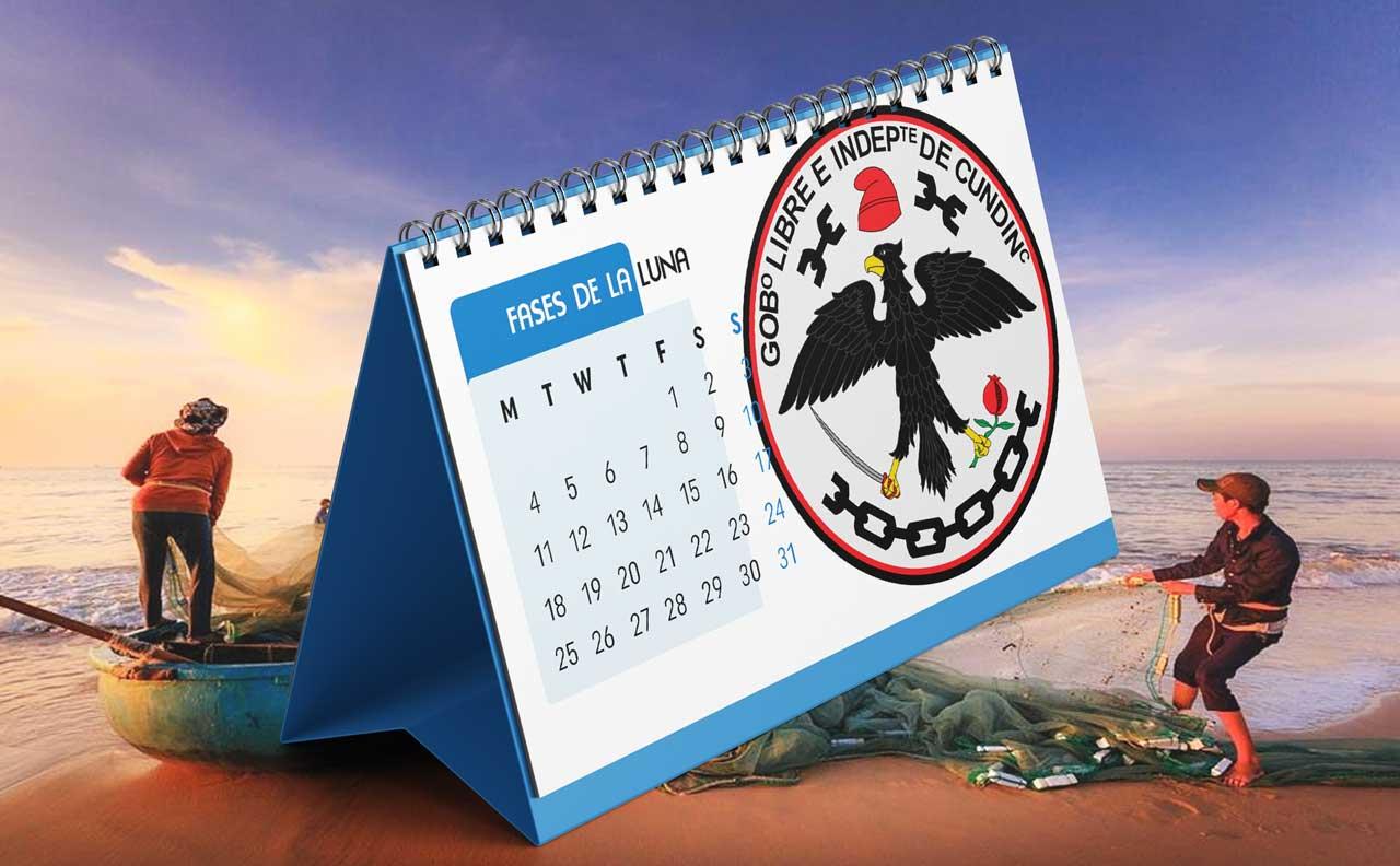 Portada Calendario Lunar de Pesca para Cundinamarca (Colombia)