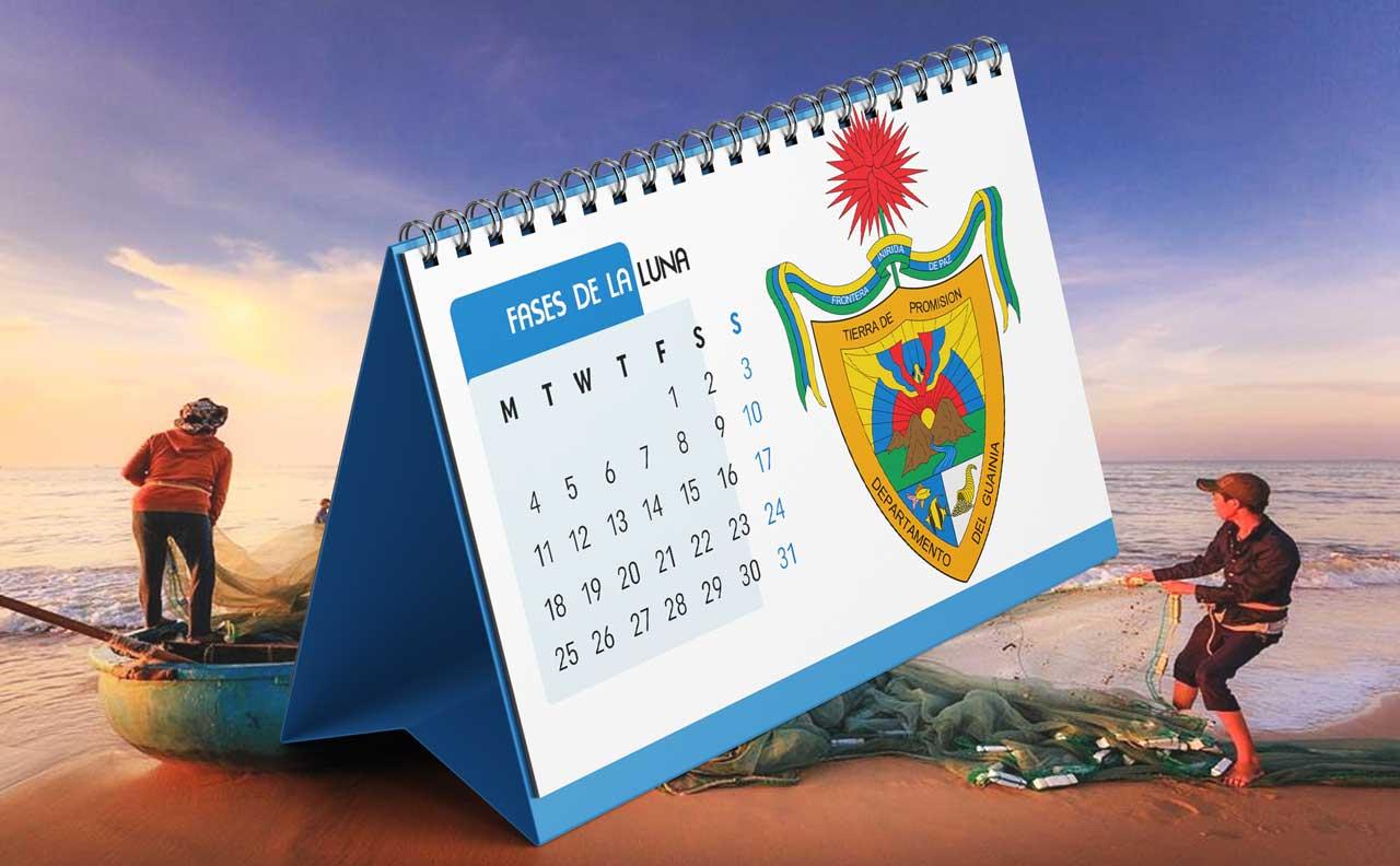 Portada Calendario Lunar de Pesca para Guainía (Colombia)
