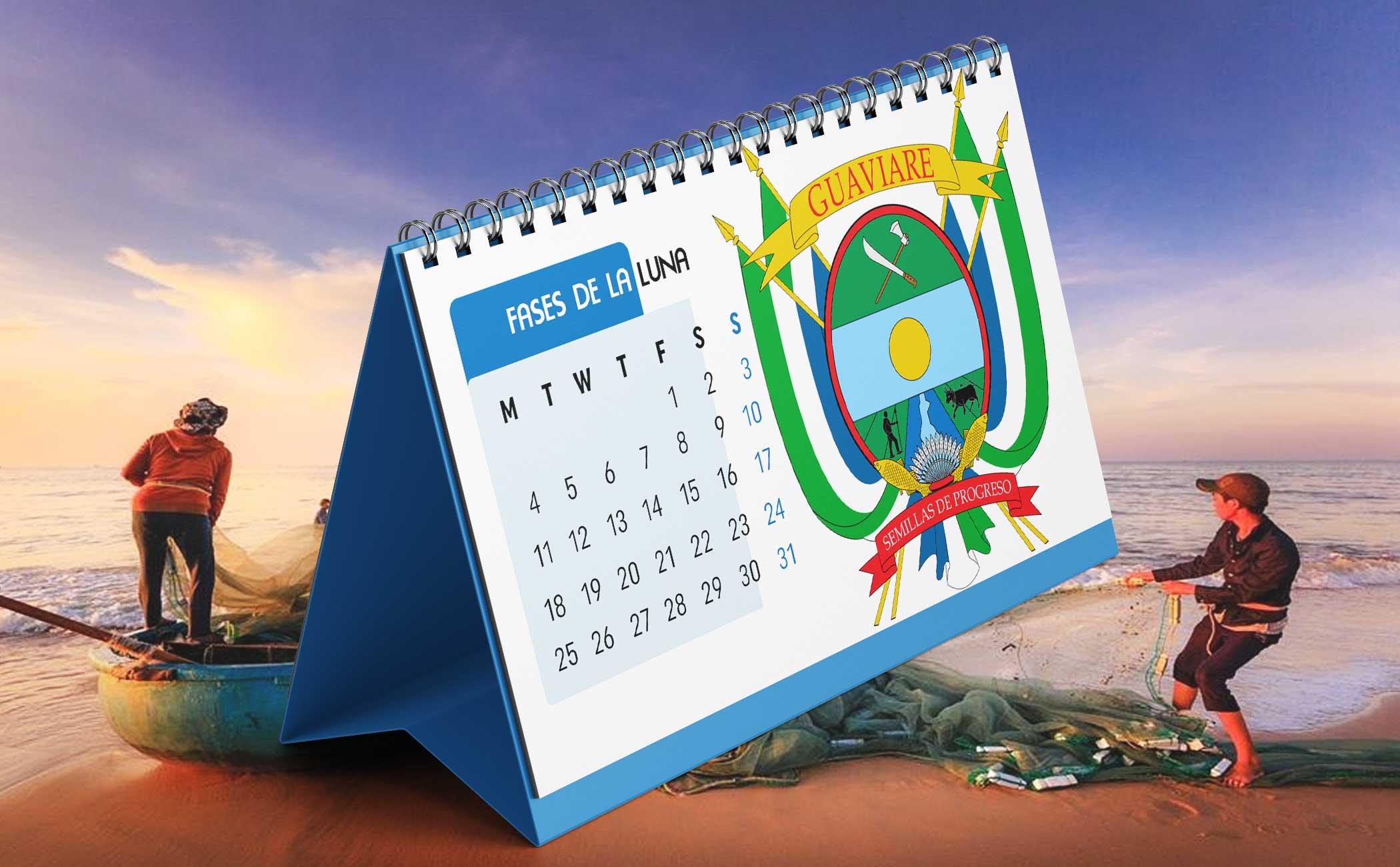 Portada Calendario Lunar de Pesca para Guaviare (Colombia)