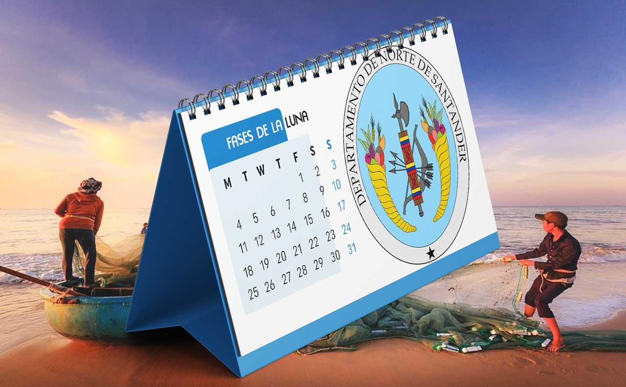 Portada Calendario Lunar de Pesca para Norte de Santander (Colombia)