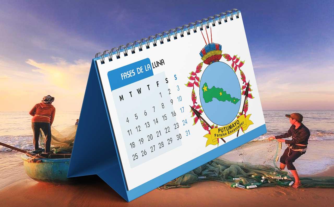 Portada Calendario Lunar de Pesca para Putumayo (Colombia)