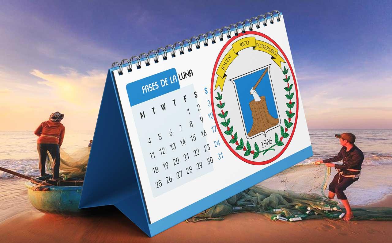 Portada Calendario Lunar de Pesca para Quindío (Colombia)
