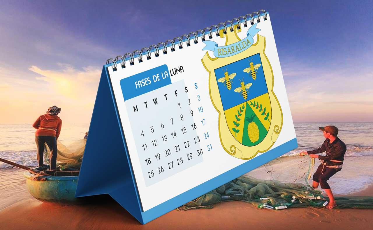 Portada Calendario Lunar de Pesca para Risaralda (Colombia)