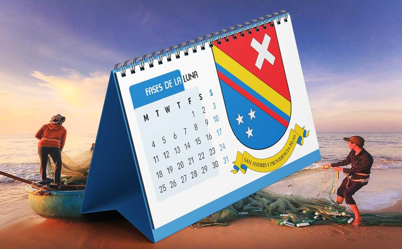 Portada Calendario Lunar de Pesca para San Andrés y Providencia (Colombia)