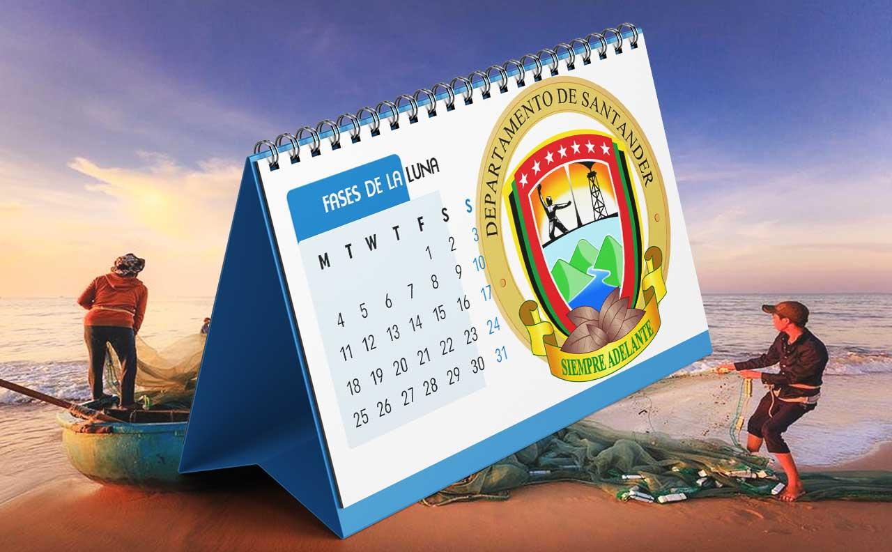 Portada Calendario Lunar de Pesca para Santander (Colombia)