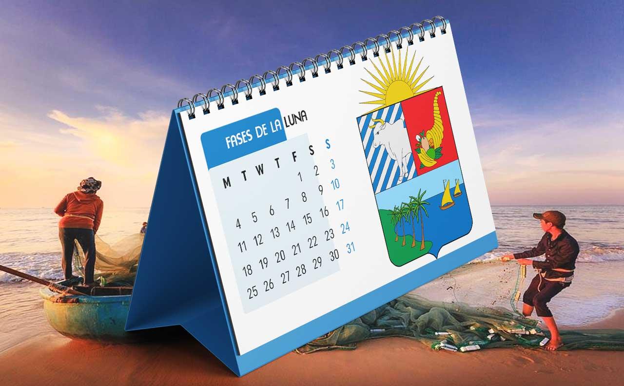 Portada Calendario Lunar de Pesca para Sucre (Colombia)