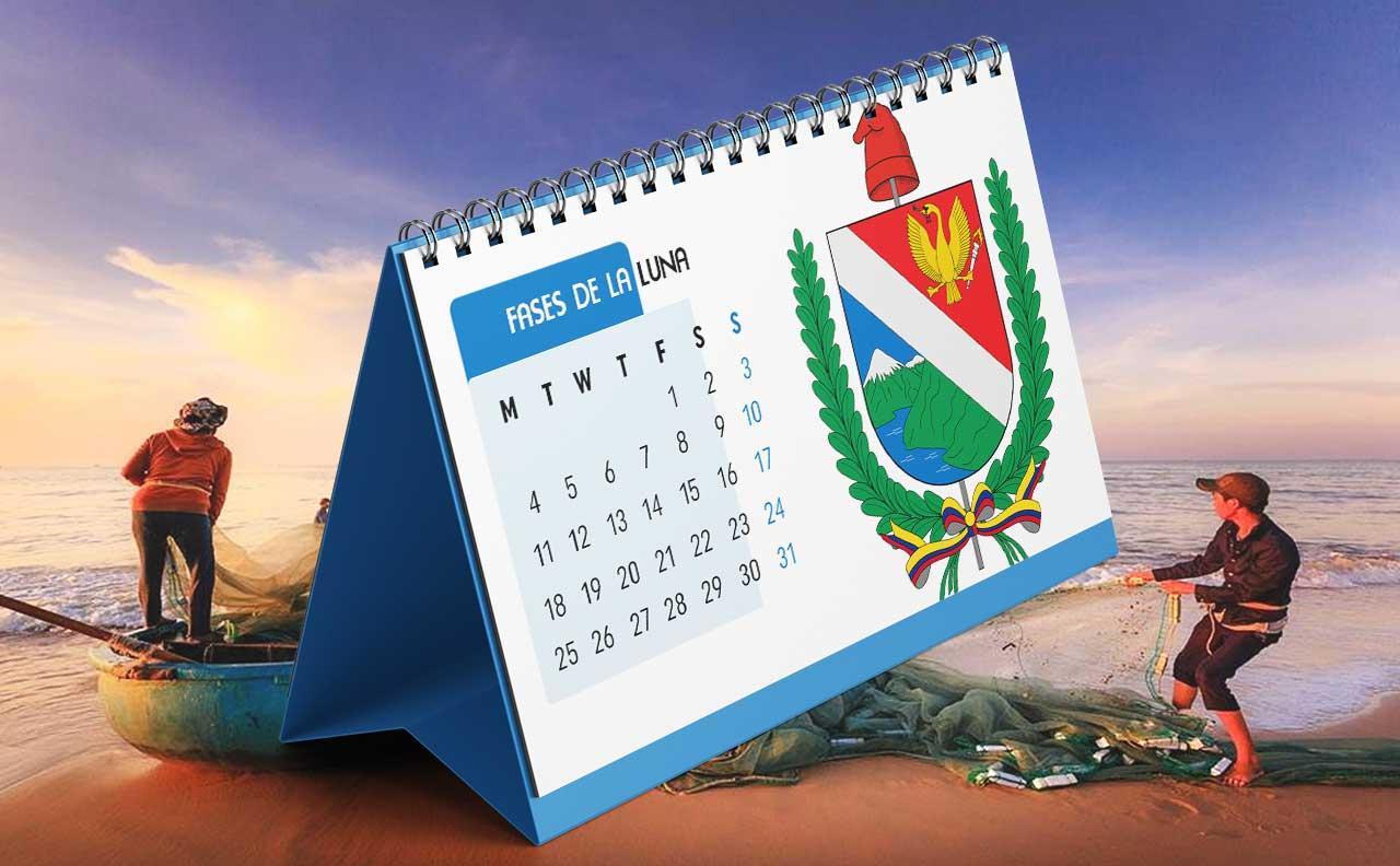 Portada Calendario Lunar de Pesca para Tolima (Colombia)