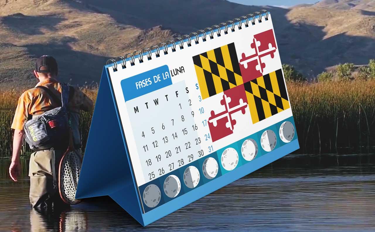 Tabla solunar para la pesca en Maryland