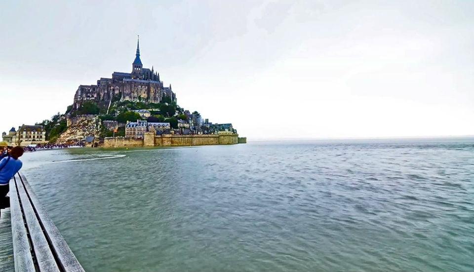 Mont Saint Michel France. Marea Alta