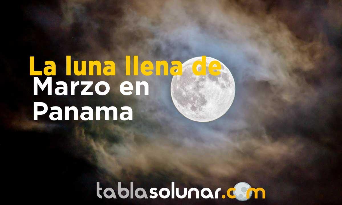 Luna llena de Marzo de 2021 en Panamá