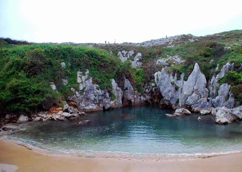 mareas de Playa de Gulpiyuri