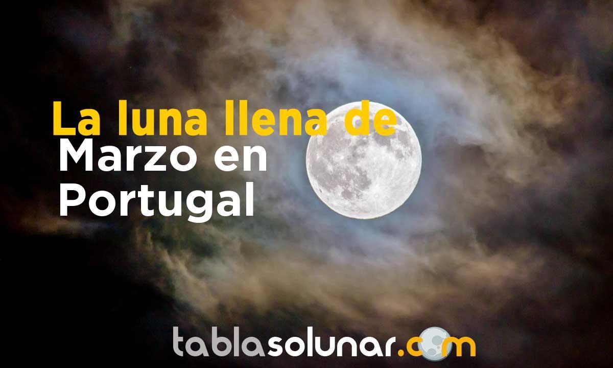 Luna llena de Marzo de 2021 en Portugal
