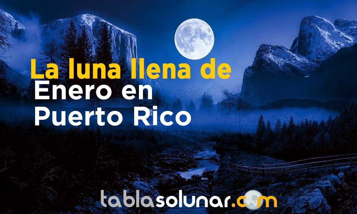 Luna llena de Enero de 2021 en Puerto Rico