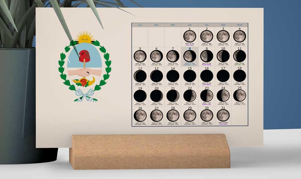 Calendario con Lunas para la Pesca en la provincia de Mendoza