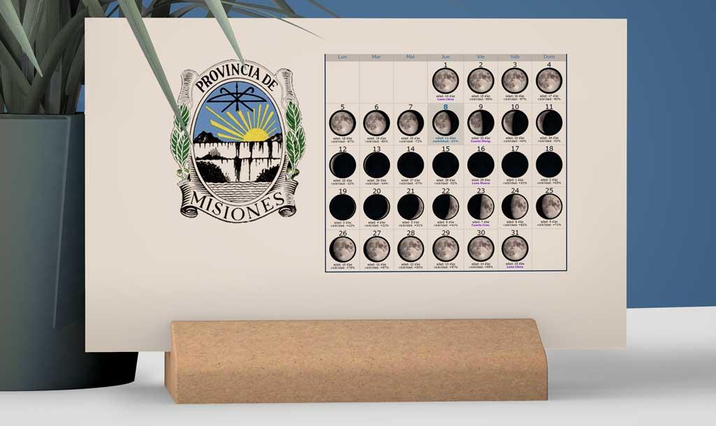 Calendario con Lunas para la Pesca en la provincia de Misiones